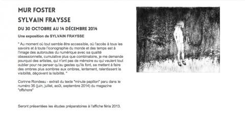 Mur Foster - Sylvain Fraysse